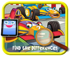 Toon Race Cars Find the Differences Game