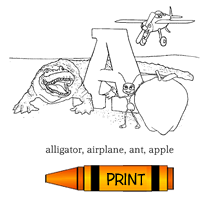 A - Alphabet ABC's Coloring Page