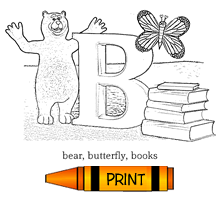 B - Alphabet ABC's Coloring Page
