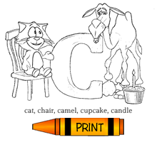 C - Alphabet ABC's Coloring Page