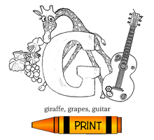 G - Alphabet ABC's Coloring Page