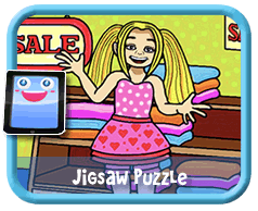 Girl Shopping Online mobile and tablet-ready jigsaw puzzle for kids