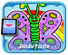 Butterfly Online mobile and tablet-ready jigsaw puzzle for kids