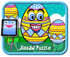 Cartoon Egg Online mobile and tablet-ready jigsaw puzzle for kids