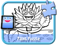 Toon Flower - Online Paint Puzzle for Kids