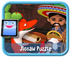 Wanna Burrito? Online mobile and tablet-ready jigsaw puzzle for kids