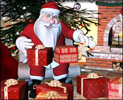 Santa Claus Wrapping Gifts Online Jigsaw Puzzle